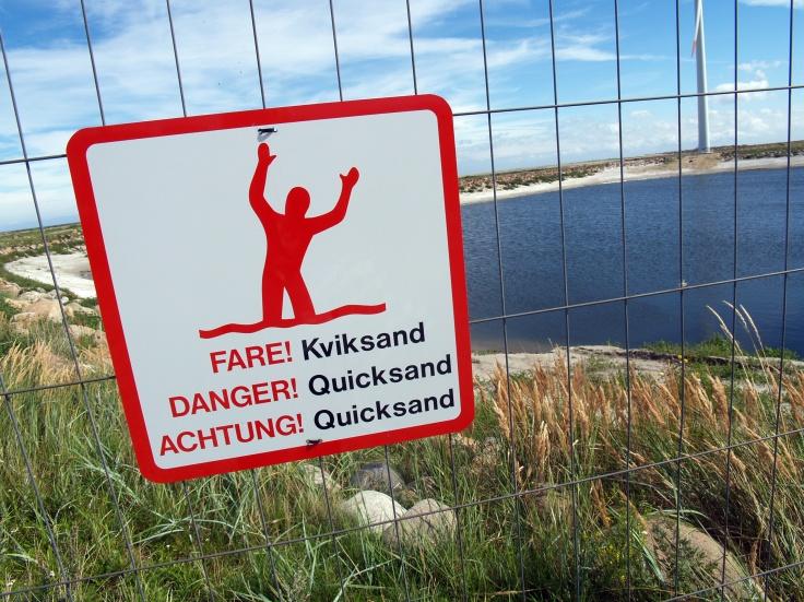 quicksand danger